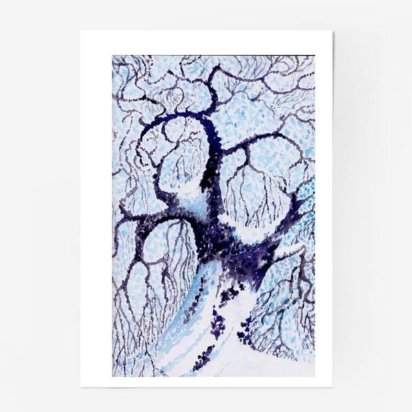 Постер «Зима. Дуб.»