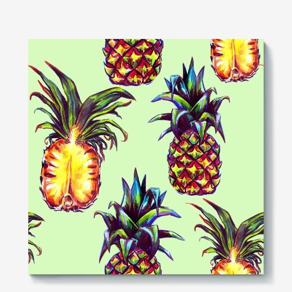 Холст «ананасы»