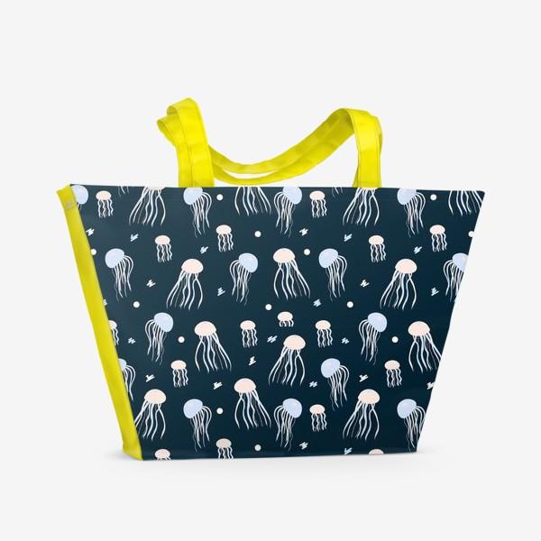 Пляжная сумка «Медузы  в море»