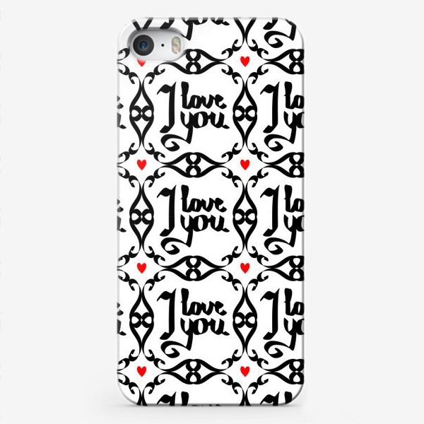 Чехол iPhone «Паттерн я люблю тебя»