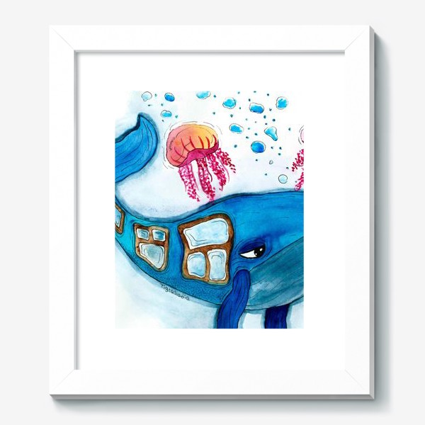 Картина «оконный кит»