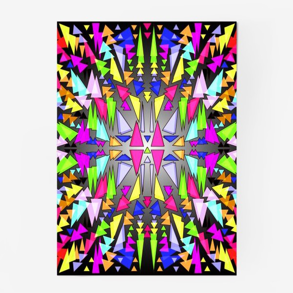 Постер «Геометрический фон в виде витража, мозаики или калейдоскопа»