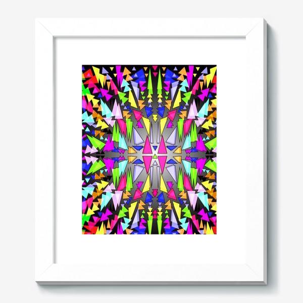 Картина «Геометрический фон в виде витража, мозаики или калейдоскопа»