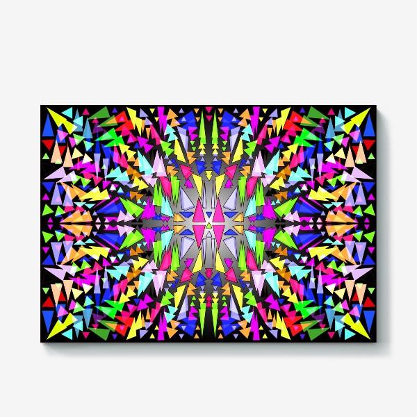 Холст «Геометрический фон в виде витража, мозаики или калейдоскопа»