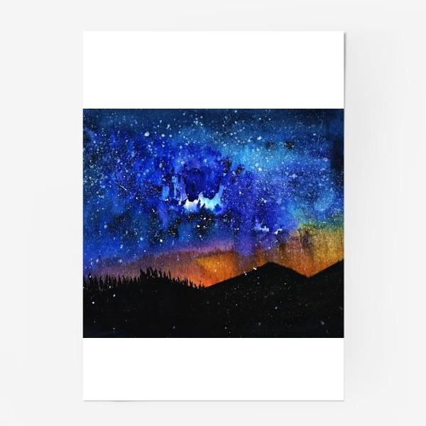 Постер «ночь в горах»