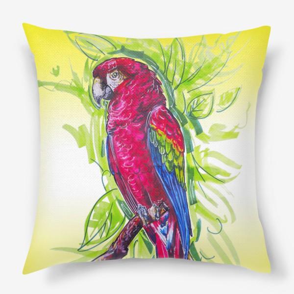 Подушка «Яркий попугай»
