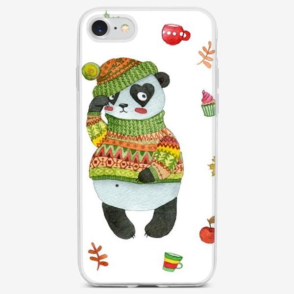 Чехол iPhone «Панда. Осень»