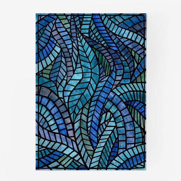 Постер «Голубая геометрическая мозаика Ар нуво»