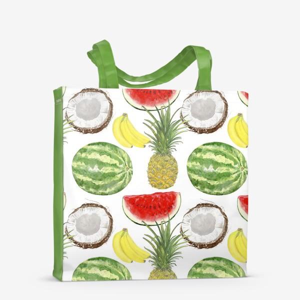 Сумка-шоппер «Фрукты . Ананас,арбуз,банан,кокос»