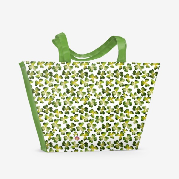 Пляжная сумка «Поле клевера (с несколькими четырехлистными на счастье)»
