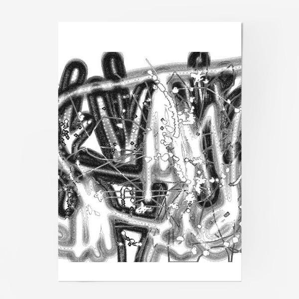 Постер «Черно-белая абстракция»