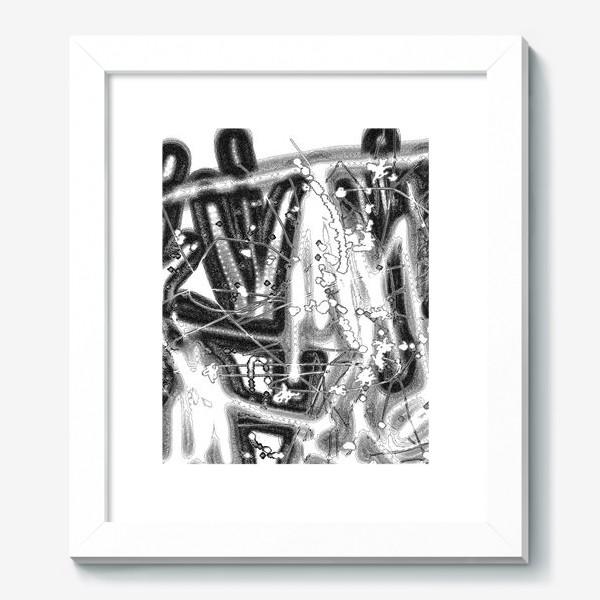 Картина «Черно-белая абстракция»