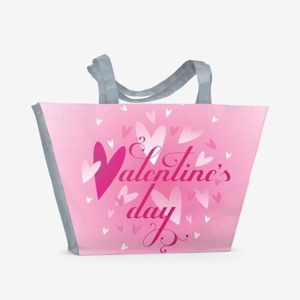 Пляжная сумка «Валентинов день!»