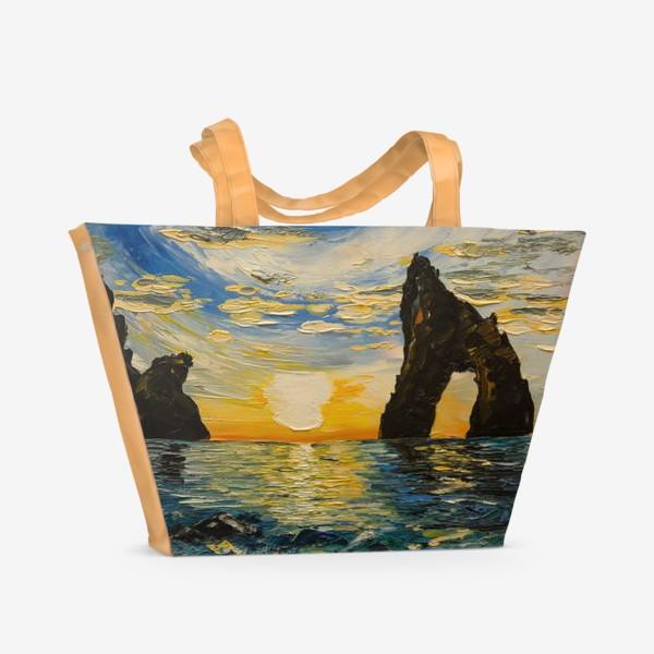 Пляжная сумка «Морской пейзаж»