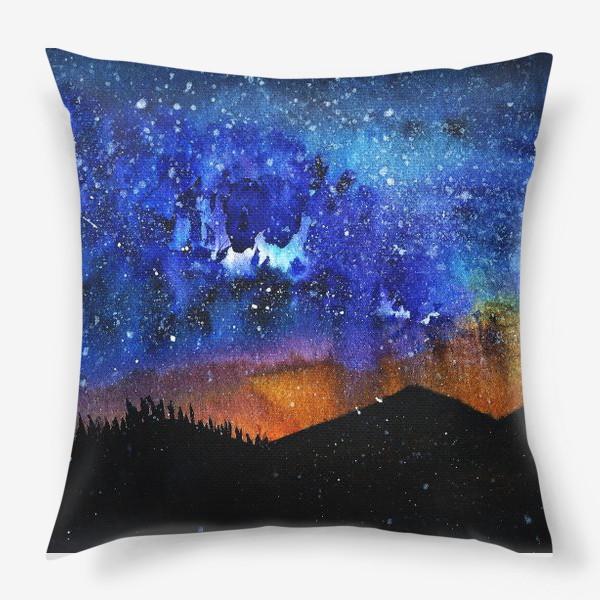 Подушка «ночь в горах»