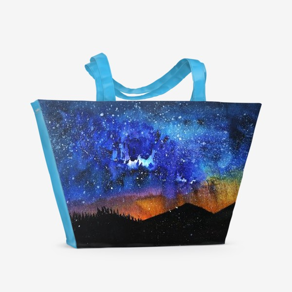 Пляжная сумка «ночь в горах»