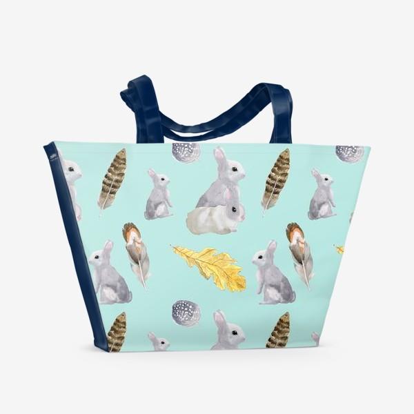 Пляжная сумка «Зайцы»