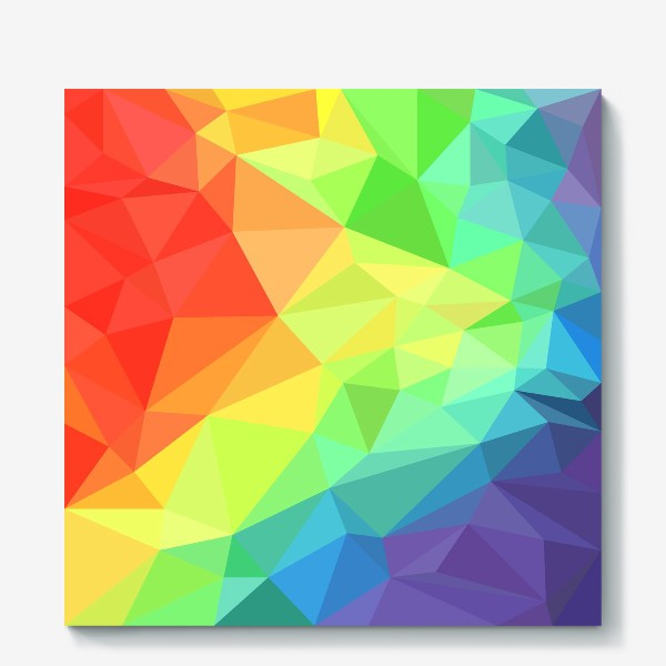 Холст «Poligonal Rainbow»