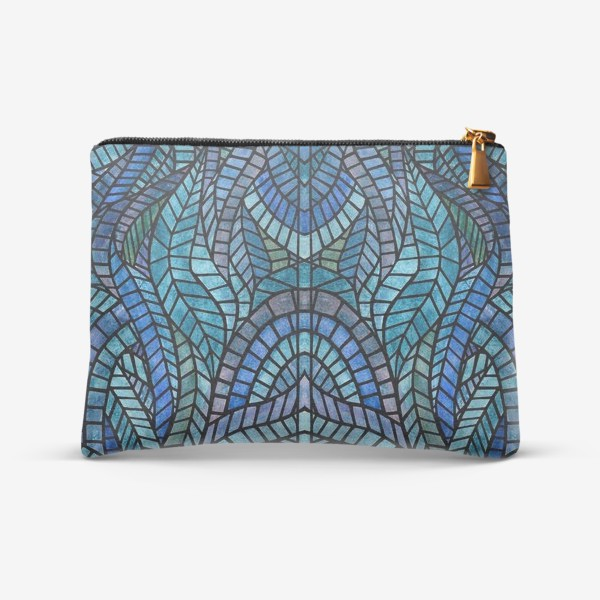 Косметичка «Голубая геометрическая мозаика Ар нуво»