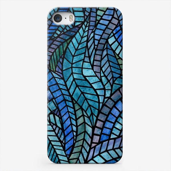 Чехол iPhone «Голубая геометрическая мозаика Ар нуво»