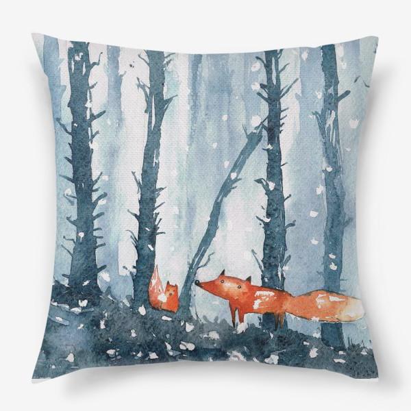 Подушка «лисы в лесу»