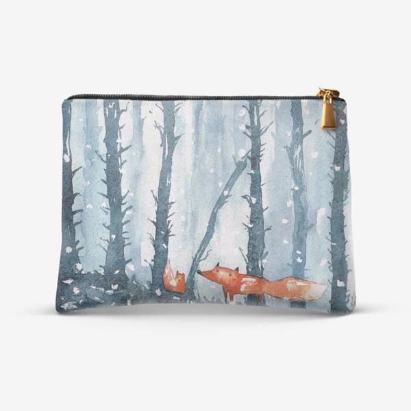 Косметичка «лисы в лесу»