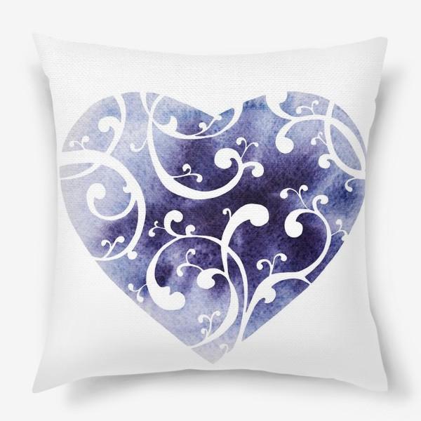 Подушка «Чернильное сердце»