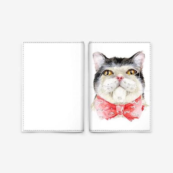 Обложка для паспорта «Кот. Мурзик»