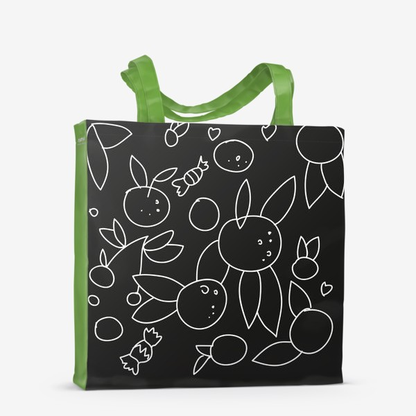 Сумка-шоппер «Фрукты и конфеты»
