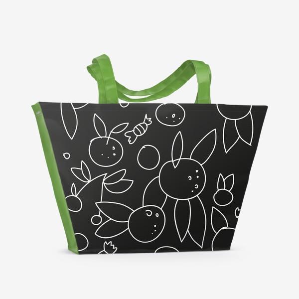 Пляжная сумка «Фрукты и конфеты»