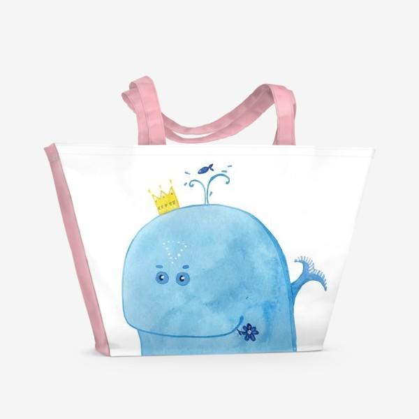 Пляжная сумка «Кит на море»