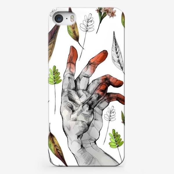 Чехол iPhone «Осенние листья и рука здесь неспроста»