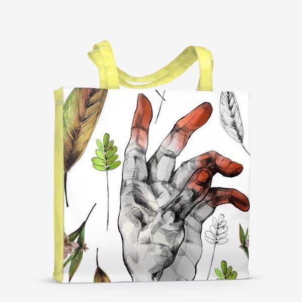 Сумка-шоппер «Осенние листья и рука здесь неспроста»