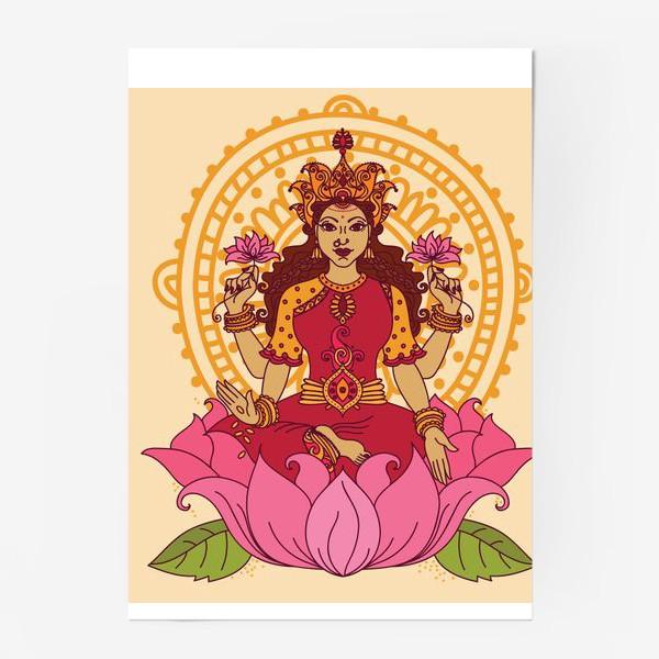 Постер «Богиня Лакшми сидящая»