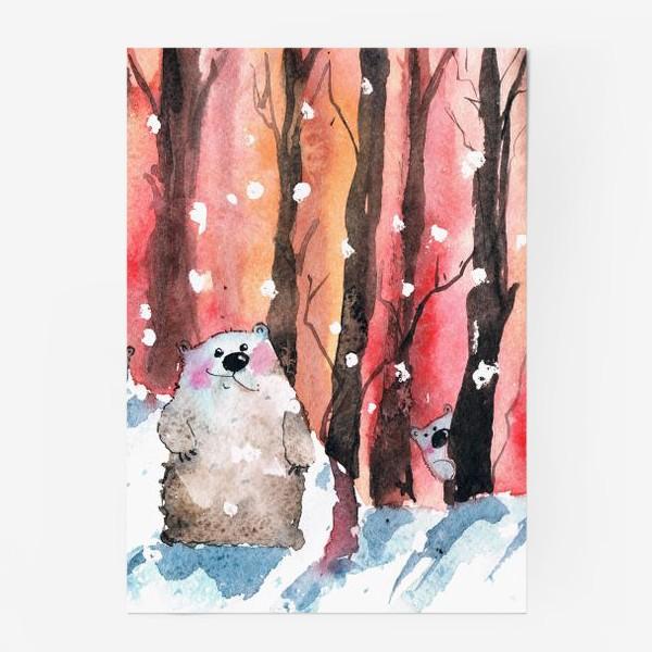 Постер «Медведи в лесу»