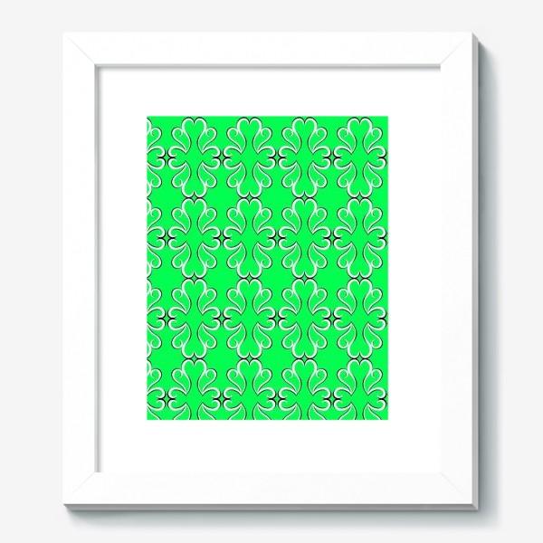 Картина «Простые классические зелёные обои с абстрактным узором»