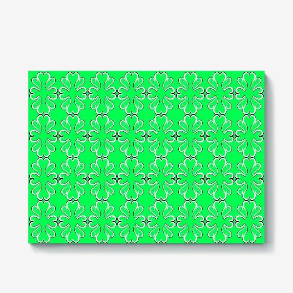 Холст «Простые классические зелёные обои с абстрактным узором»