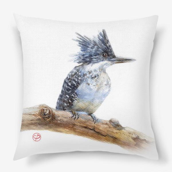 Подушка «синий хохолок»