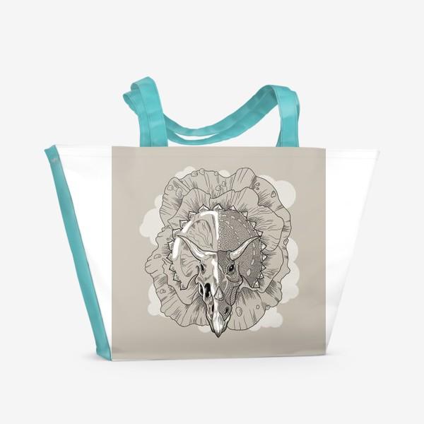 Пляжная сумка «Трицератопс»