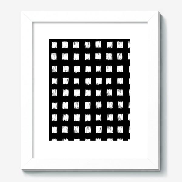 Картина «Чёрно-белые клетки»