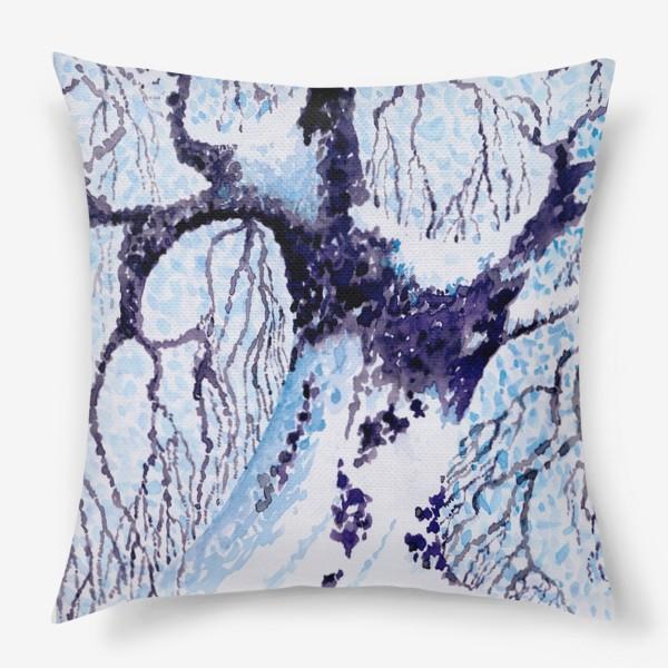 Подушка «Зима. Дуб.»