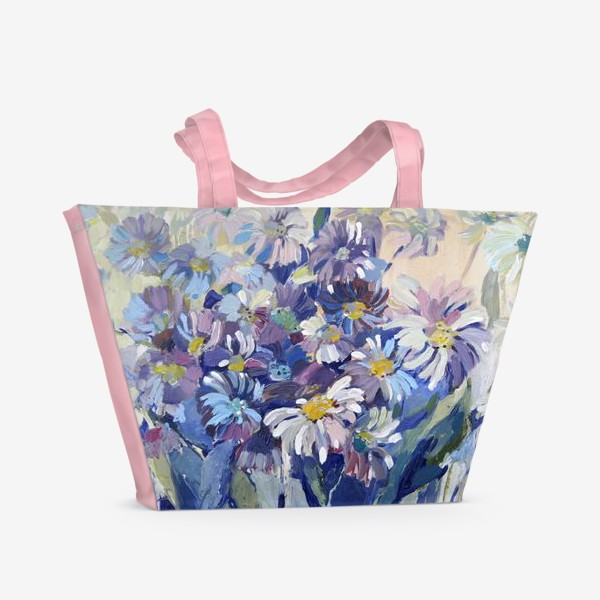 Пляжная сумка «Цветы-ромашки»