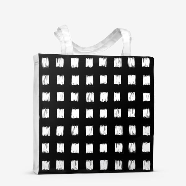 Сумка-шоппер «Чёрно-белые клетки»