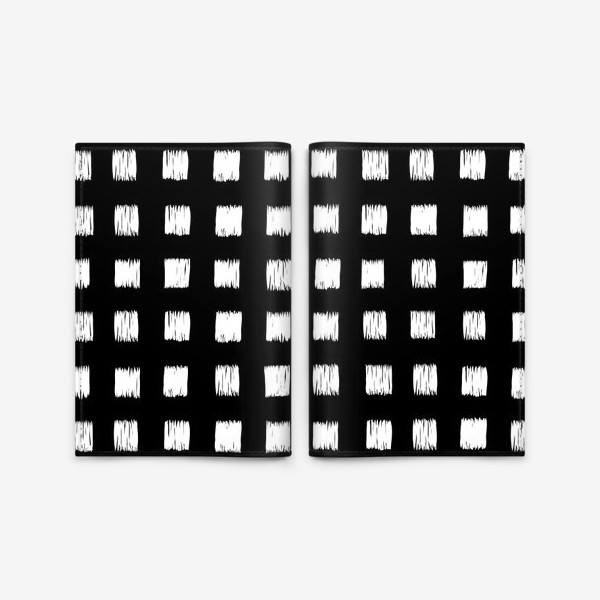 Обложка для паспорта «Чёрно-белые клетки»