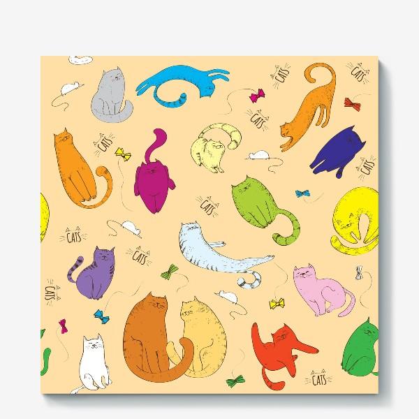 Холст «Котики»