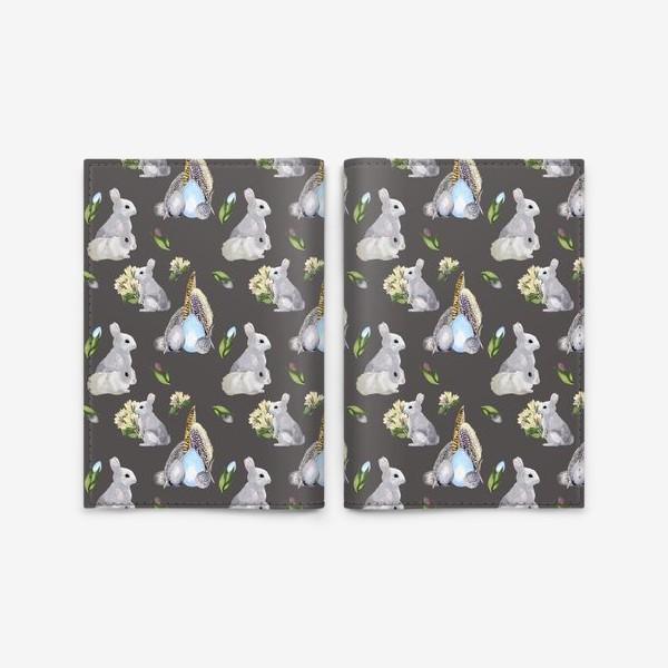 Обложка для паспорта «Милые кролики »