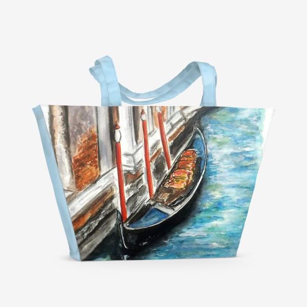 Пляжная сумка «Канал. Венеция. Италия»