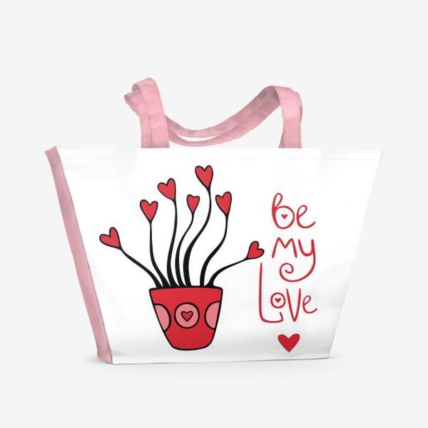 "Пляжная сумка «цветок ""будь моей валентинкой""»"