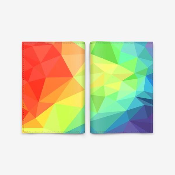 Обложка для паспорта «Poligonal Rainbow»