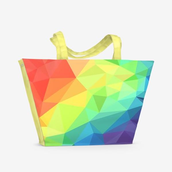 Пляжная сумка «Poligonal Rainbow»